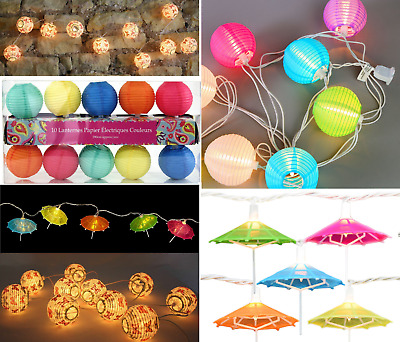 LED Garland String Fairy Lights Lantern Ball Umbrella Shape Home Wedding Party • 6.99£