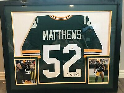 $ CDN600 • Buy Clay Matthews Framed Autographed Green Bay Packers Jersey