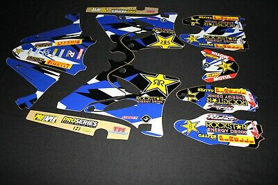 AU115 • Buy Yamaha Yz 125-250 2006-2014 Rockstar Flu Mx Graphics Kit Sticker Kit Stickers
