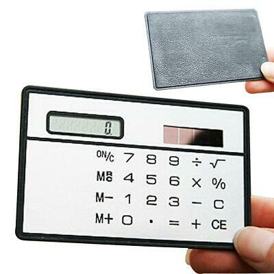 1x Hot Credit Card Sized Ultra-thin Portable Solar Powered 8-Digit Calculator EH • 2.96£