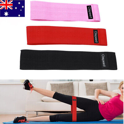 AU20.99 • Buy 3X Wide Hip Resistance Bands Loop Circle Exercise Workout Fitness Yoga Booty Leg