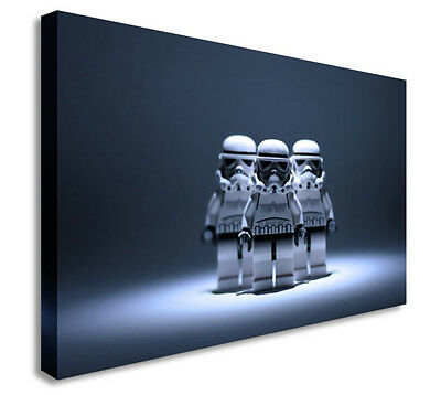 £48.99 • Buy Star Wars Lego Stormtrooper Canvas Wall Art Picture Print