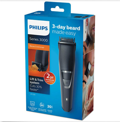 AU83.71 • Buy Philips BT3226 Rechargeable/Cordless Beard Trimmer/Body Hair Groomer/Clipper