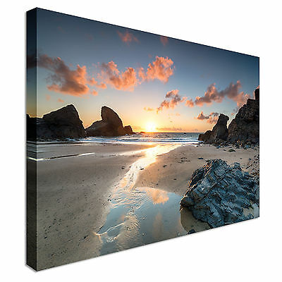 £17.99 • Buy Sunset Porthcothan Bay Cornwall Canvas Wall Art Picture Print