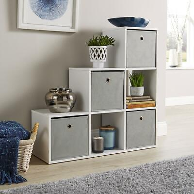 £45.99 • Buy Step Style Storage Cube 6 Shelf Bookcase Wooden Display Staircase Unit White