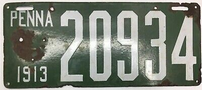 $ CDN118.51 • Buy Rare Porcelain 1913 Pennsylvania License Plate 20934 Original