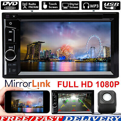 $164.12 • Buy 2DIN Car Stereo Radio CD DVD Player BT USB FM AUX Receiver Mirror Link For GPS