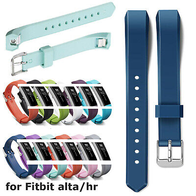 AU6.61 • Buy Glossy Silicone Band For Fitbit Alta HR Smart Watch Bracelet TPU Strap Wristband
