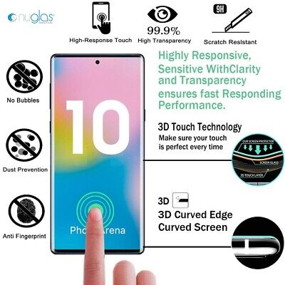 AU10.49 • Buy NUGLAS Tempered Glass Screen Protector Samsung Galaxy Note S20 Ultra S10 9 Plus