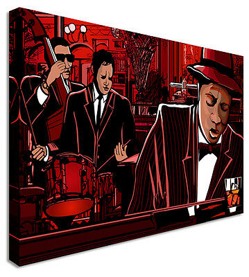 £17.99 • Buy Pictures Of Jazz Cafe Bros Canvas Wall Art Picture Print