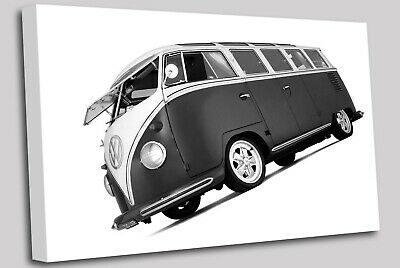 £22.99 • Buy VW Camper Van Black And White Canvas Wall Art Picture Print