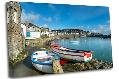 £17.99 • Buy The Harbour At Mousehole In Cornwall Canvas Wall Art Picture Print