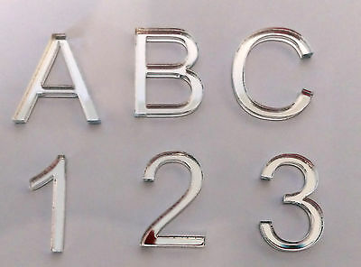 Acrylic Mirror Letters, Numbers & Symbols. Choice Of 22 Fonts. Lots Of Sizes. • 0.99£