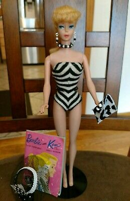 $ CDN396.96 • Buy Vintage Barbie Doll #5 Ponytail Blonde Perfect  & Gorgeous!  Free Ship & Stand!