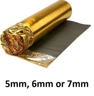 5mm 6mm 7mm Sonic Gold Foil Underlay - Wood Or Laminate Flooring Acoustic  • 17.50£