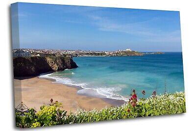 £17.99 • Buy Newquay Tolcarne Beach North Cornwall Wall Canvas Wall Art Picture Print