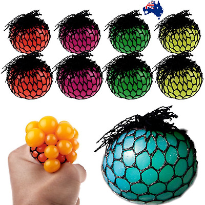 AU8.95 • Buy New Anti-Stress Squishy TPR Mesh Ball Grape Squeeze Sensory Fruity Toys Novelty