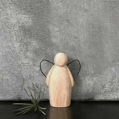 £3.85 • Buy East Of India Rustic Wooden Guardian Angel With Wire Wings