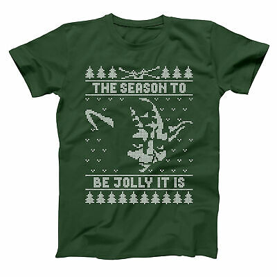 $22 • Buy Jolly Yoda Ugly Christmas Sweater Funny Xmas Humor Forest Green Men's T-Shirt