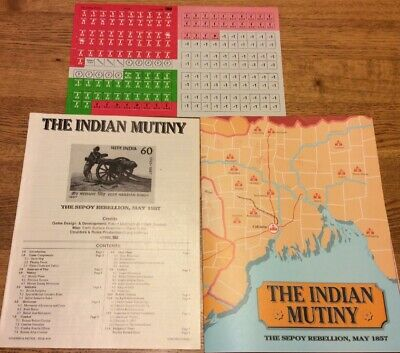 SPI S&T Strategy & Tactics  #121  The Indian Mutiny 1857  Game Unpunched • 20$