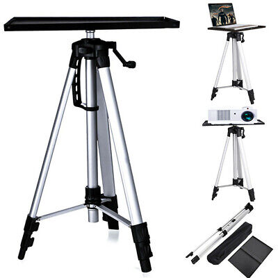 AU43.98 • Buy 52-140cm Aluminium Projector Tripod Stand For Laptop With Tray Height Adjustable