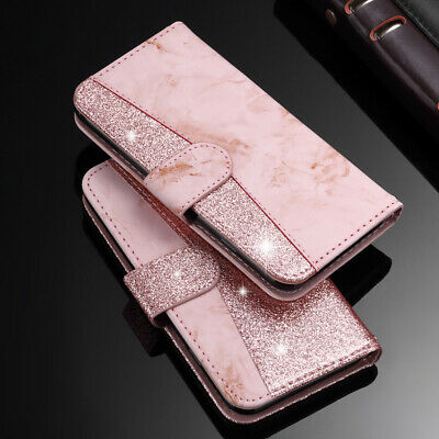 AU11.99 • Buy For IPhone 8 Plus 7 6s XS MAX XR FLip Magnetic Wallet Glitter Leather Case Cover
