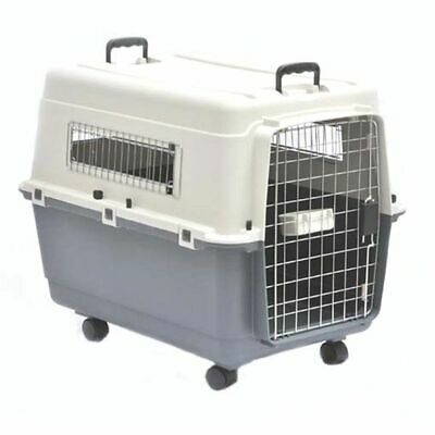 View Details Barkshire Portable Travel Dog Carrier Pet Crate (Airline Approved) - Grey White • 70.00£