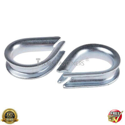 £2.15 • Buy WIRE ROPE CABLE CLAMP CLIPS GRIPS 3mm 4mm 5mm 6mm 8mm 10mm THIMBLE