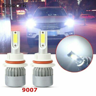 $11.99 • Buy 9007 HB5 6000K Super White LED Headlight Bulbs High Low Beam Conversion Kit Pair