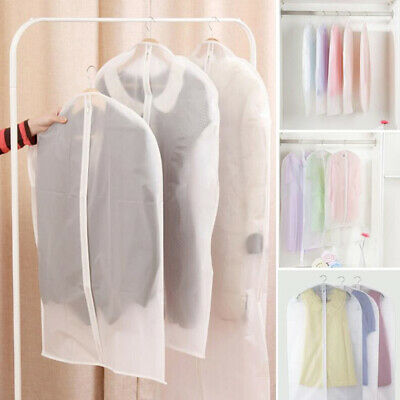 5/10x Clear Hanging Suit Clothes Dress Dust Covers Garment Storage Bag With Zip • 7.95£