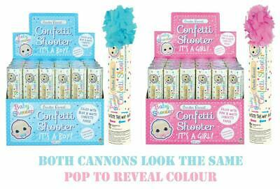 £5.49 • Buy Gender Reveal Confetti Shooter Party Time Baby Girl Boy Shower Pink Blue