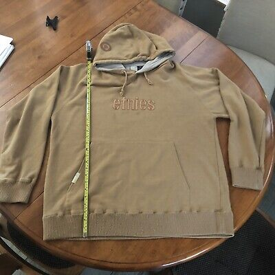 $42 • Buy Etnies Box Hoody Pullover Sand Gold XL Embroidered Soft Warm BMX Skater Hoodie