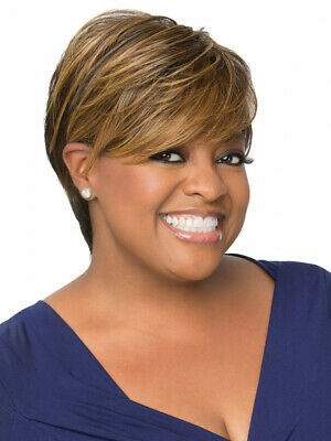 $49.99 • Buy Luxhair NOW For Sherri Shepherd Feathered Pixie Wig Caramel Blond