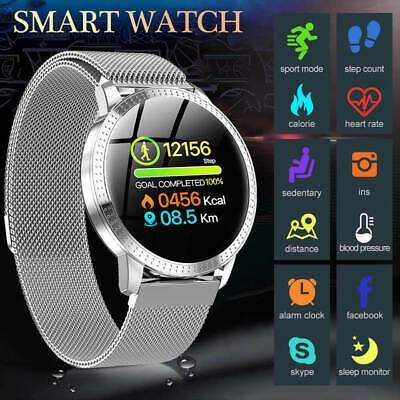 $ CDN43.73 • Buy Waterproof Sport Smart Watch Blood Pressure Heart Rate Monitor For IOS Android
