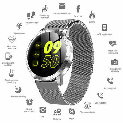 AU45.12 • Buy WATERPROOF SMART WATCH W/ CALL TEXT EMAIL NOTIFICATIONS STEEL BAND MAGNET BUCKLE