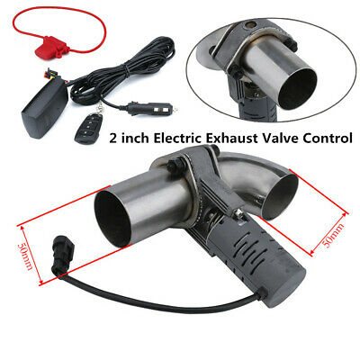 $ CDN148.57 • Buy 2''Electric Exhaust Valve Control Downpipe Cut Out Catback Wireless Remote Solid