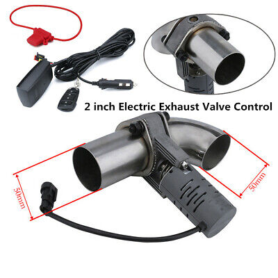 $ CDN153.33 • Buy 2''Electric Exhaust Valve Control Downpipe Cut Out Catback Wireless Remote Solid
