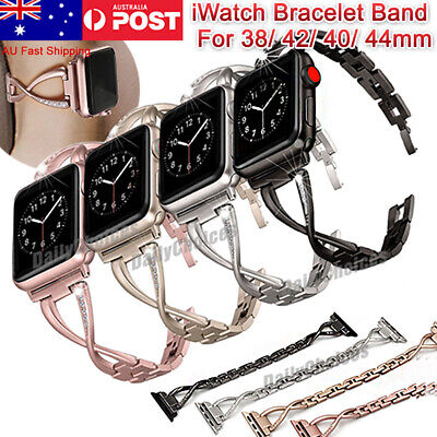 AU12.95 • Buy Stainless Steel Bracelet IWatch Band Strap For Apple Watch Series 6 5 4 3 2 44mm