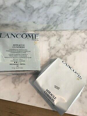 3 Lancome Miracle Cushion Compact Refill 06 Beige Mocha NEW Foundation X3 • 21.99£