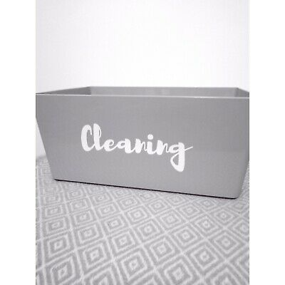 Personalised Cleaning Basket *any Wording/text Colour * • 6.60£