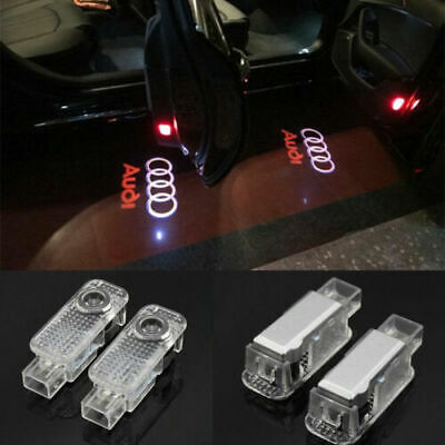 $ CDN19.42 • Buy 2x LED Logo Door Courtesy Light Shadow Laser Projector For Audi A8-A6 A4 Q7 SQ5