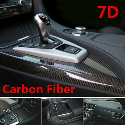 $12.29 • Buy 7D Stickers Glossy Carbon Fiber Vinyl Film Car Interior Wrap Auto Accessories