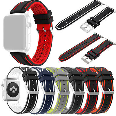 $ CDN18.13 • Buy Sport Silicone Bracelet Watch Band Wrist Strap For Apple Watch Series 1/2/3 Acc