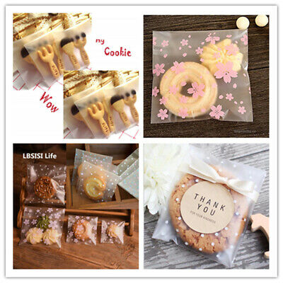 £3.19 • Buy 200pcs Self Adhesive Plastic Cookie Bag Candy Gift Packaging Birthday Bags Valen