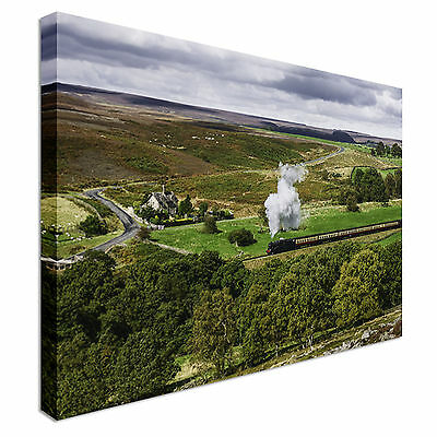 £48.99 • Buy Steam Train Fields Canvas Wall Art Picture Print