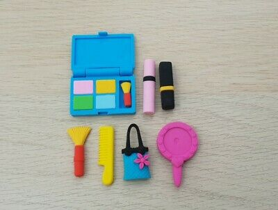 7pcs Novelty Makeup Erasers Rubbers Gift Toy Party Bag Gift • 1.99£