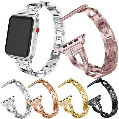 $ CDN8.99 • Buy For Apple Watch IWatch Series 4 3 2 1 Stainless Steel Strap Band 44 40 42 38mm