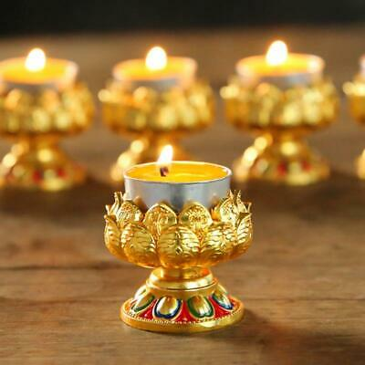 $ CDN8.78 • Buy Alloy Lotus Candle Butter Lamp Candle Holder Buddhist Supplies For Buddha Pray
