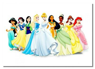Beauty Cartoon Characters Poster Princess Disney Picture Animation Royality  • 10.99£