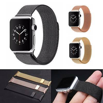 AU5.99 • Buy 【Apple Watch】Series 5 4 3 2 1 Milanese Magnetic Stainless Loop Strap IWatch Band